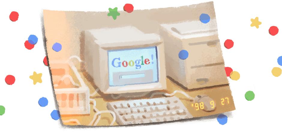 Google feiert 21. Geburtstag mit einem Doodle