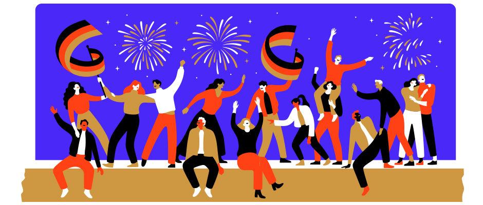 Deutscher Tag der Wiedervereinigung 2019: Google Doodle feiert den Tag der Deutschen Einheit