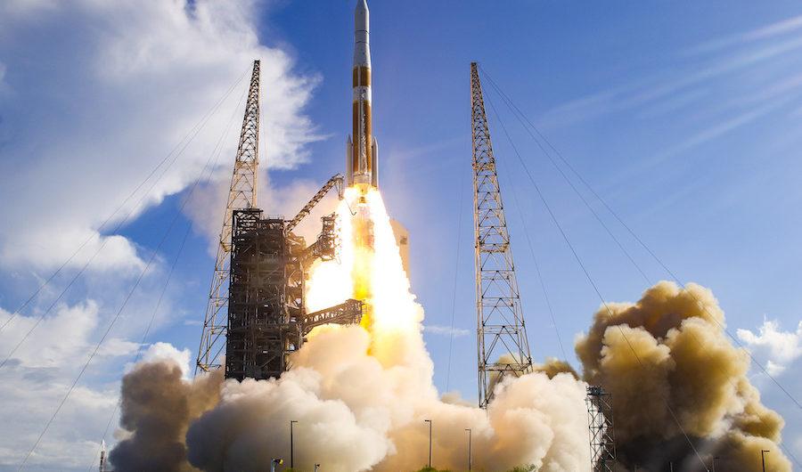 ULA Delta IV Schwere Rakete für den Spysatstart des National Reconnaissance Office