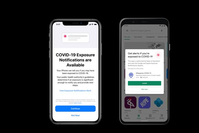 Aktivieren von 'Express'-COVID-19-Belichtungsbenachrichtigungen in iOS 13.7