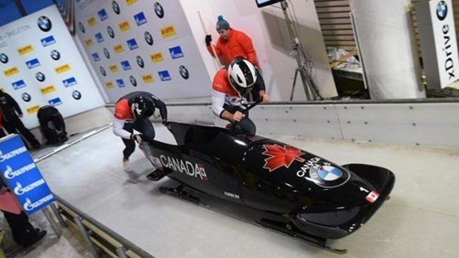 Das kanadische Bobteam gewinnt Silber in Deutschland