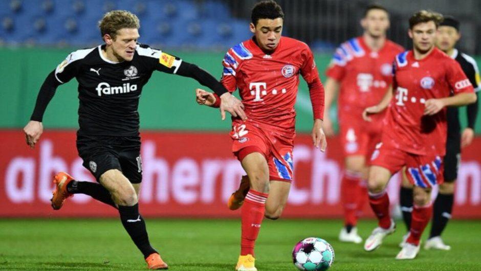 Die Bayern schieden aus dem deutschen Pokal der 2. Liga Kiel aus