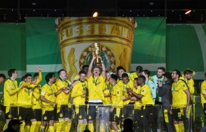 Fußball-Dortmund bezwingt Leipzig mit 4: 1, um den deutschen Pokal zu gewinnen
