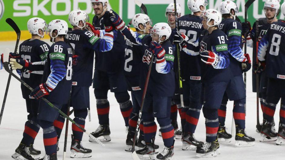 USA übertreffen die Slowakei mit 6:1 bei Eishockey-Weltmeisterschaften, treffen im Halbfinale auf Kanada